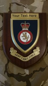 Army Cadet Force ACF Personalised Military Wall Plaque